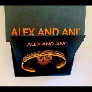 New Alex & Ani Swarovski Crystal Calavera Cuff 💀